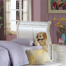 Pearl Sleigh Bed Footboard in Pearl White
