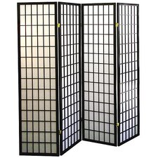 """Shoji Syle 70.5"""" x 68"""" 4 Panel Room Divider"""
