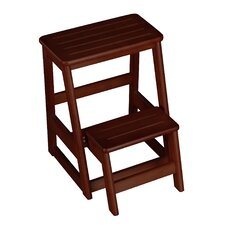 Folding Compact 2-Step Wood Step Stool