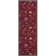 Chemarin Dark Red Indoor/Outdoor Area Rug