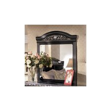 Park Mirror in Deep Glossy Black