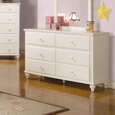 Roque Bluffs Dresser and Mirror Set in Crisp White