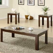 Bingham 3 Piece Coffee Table Set in Brown