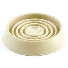 """1.75"""" Cushioned Rubber Round Caster Cups (Set of 4)"""