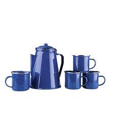 5 Piece Coffee Pot and Mug Set