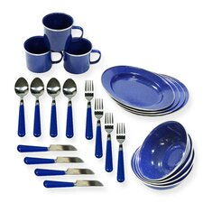 24-Piece Camping Tableware Set