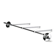Classic Wall Mounted 3-Arm Towel Bar