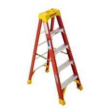 5 ft Fiberglass Step Ladder with 300 lb. Load Capacity