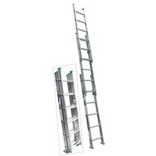 16 ft Aluminum Compact Extension Ladder with 225 lb. Load Capacity