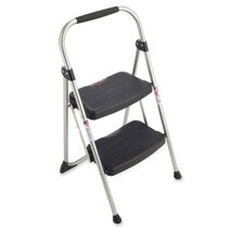 "2-Step stool, Slip-resistant, 20-3/4""x18-1/2""x34-1/16"",SR/BK"