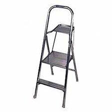 3-Step Aluminum Step Stool with 200 lb. Load Capacity