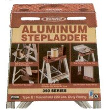 2-Step Aluminum Step Stool with 225 lb. Load Capacity