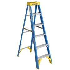 6 ft Fiberglass Step Ladder with 250 lb. Load Capacity