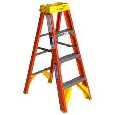 4 ft Fiberglass Step Ladder with 300 lb. Load Capacity