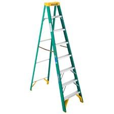 8 ft Fiberglass Step Ladder with 225 lb. Load Capacity