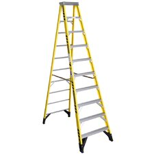 10 ft Fiberglass Step Ladder with 375 lb. Load Capacity