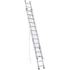 28 ft Aluminum Extension Ladder with 300 lb. Load Capacity