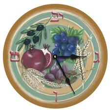"""Seven Species of Israel 10"""" Wall Clock"""