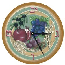 """Seven Species of Israel 18"""" Wall Clock"""