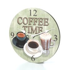 """18"""" Coffee Time Wall Clock"""