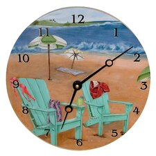 "Travel and Leisure 10"" Skinny Dipping Wall Clock"