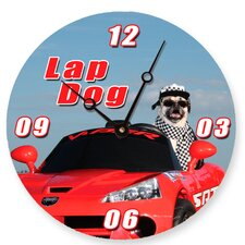 "18"" Lap Dog Wall Clock"