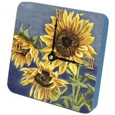 Tuscan Sunflowers Tiny Times Clock