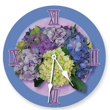 """18"""" Hydrangea Wall Clock"""