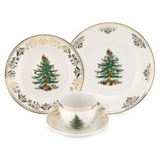 Christmas Tree Gold 4 Piece Place Setting