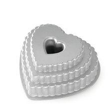 Platinum Tiered Heart Bundt Pan