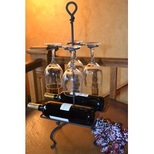 Tabletop Wine and Glass Rack