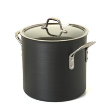 Commercial Hard-Anodized Stock Pot with Lid
