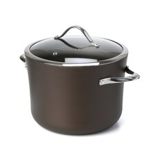 Contemporary Bronze Nonstick 8 Qt. Stock Pot with Lid