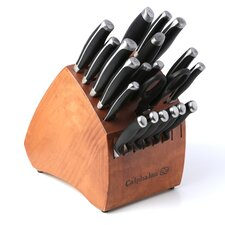 Contemporary Cutlery 21-Piece Knife Block Set