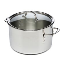 Tri-Ply Stainless Steel 8 Qt Stock Pot with Lid