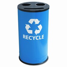 Ex-Cell Round 14-Gal Multi Compartment Recycling Bin