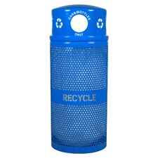 Landscape Series 34-Gal Outdoor Industrial Recycling Bin