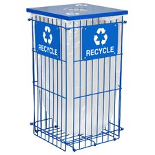 Clean Grid 45-Gal Outdoor Industrial Recycling Bin