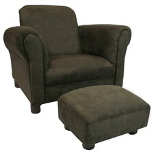 Deluxe Kids Club Chair and Ottoman