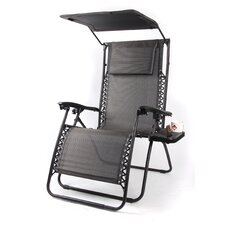 Pacific Black XL Zero Gravity Chair with Canopy and Tray