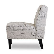Plano Vintage Print Slipper Chair