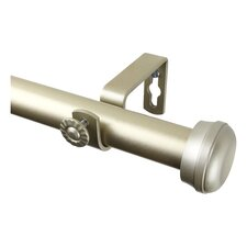 Rosen Single Curtain Rod and Hardware Set