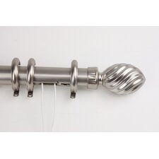 Elite Traverse Marquise Center Open Curtain Rod and Hardware Set