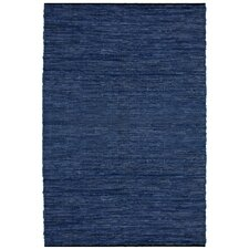 Matador Leather Chindi Blue Area Rug