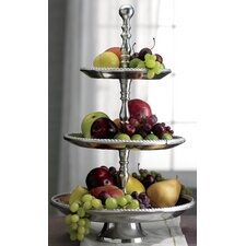 Kindwer Three Tier Beaded Aluminum Tiered Stand
