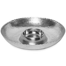 Kindwer Hammered Chip & Dip Tray
