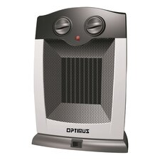 Portable Electric Compact Heater with Thermostat and Oscillating