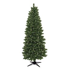 7' Slim Spruce Artificial Christmas Tree with 450 Clear Lights
