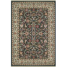 American Home Classic Kashan Navy/Ivory Area Rug