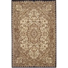 American Home Classic Tabriz Taupe/Black Area Rug